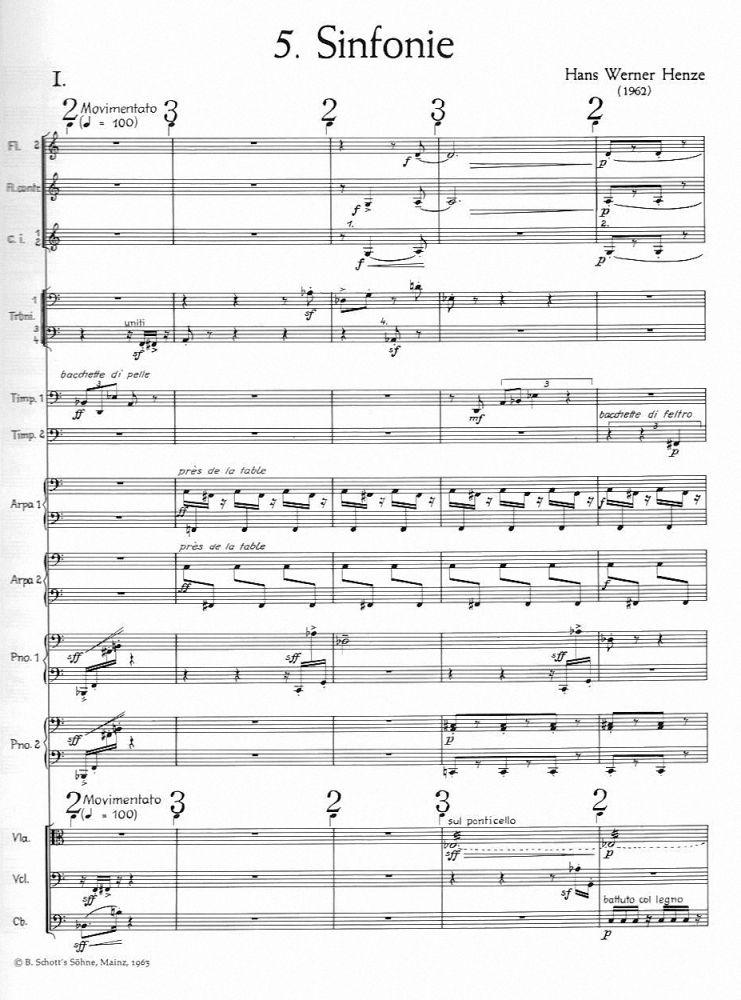 sinfonie nr 5 f r gro es orchester partitur ed 54 noten 12002 espag gebraucht kaufen. Black Bedroom Furniture Sets. Home Design Ideas