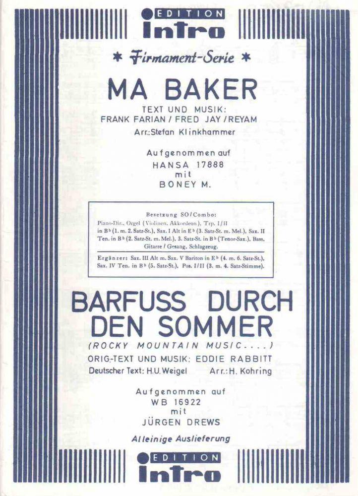 Ma Baker Boney M Barfuss Durch Den Sommer Jürgen Drews