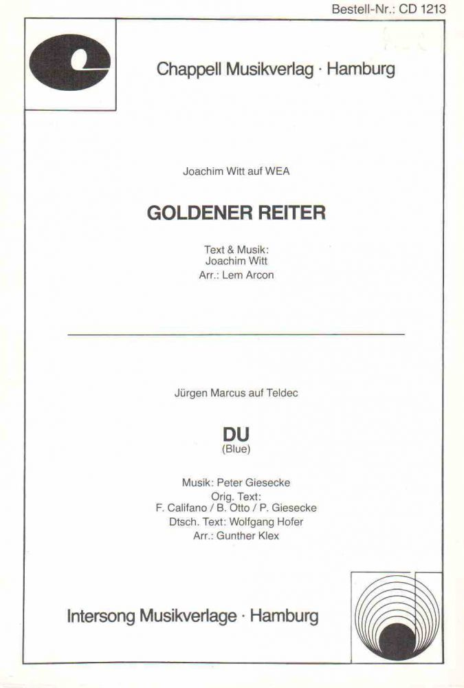 goldener reiter joachim witt du j rgen marcus. Black Bedroom Furniture Sets. Home Design Ideas