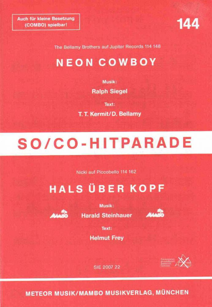 Neon Cowboy (The Bellamy Brothers) / Hals über Kopf (Nicki